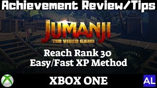 Jumanji: The Video Game (Xbox One) Achievement Review/Tips - Easy/Fast XP Method / Видео