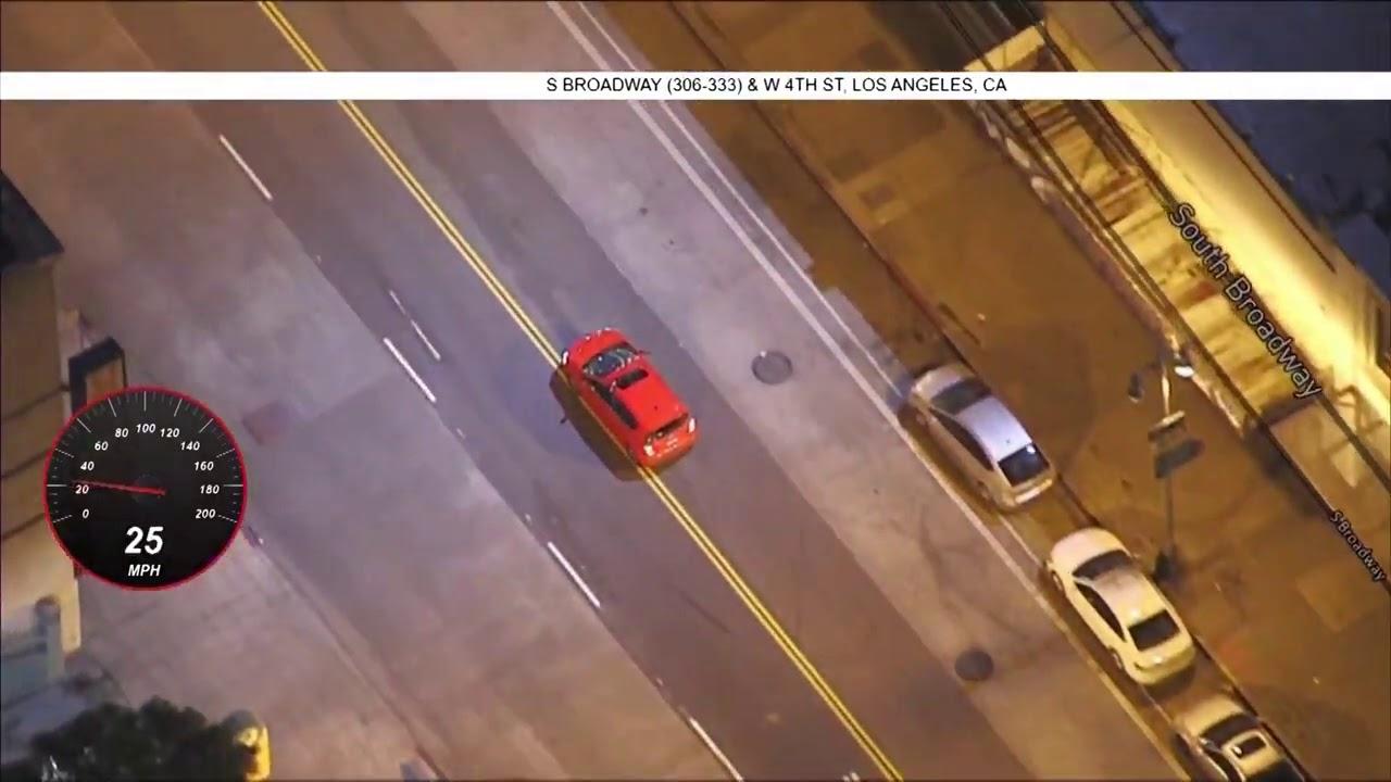 02/18/21 -  Chevy Sonic Pursuit Through DTLA