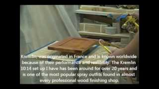 Spraying The Final Topcoat - Custom Bathroom Vanities - Part 10 Of 11