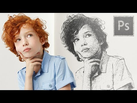 Turn Your Photo Into Sketch Easily In Photoshop!