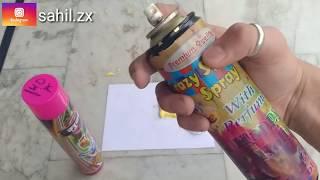Holi Snow Colour Spray vs Paint Spray | Testing |