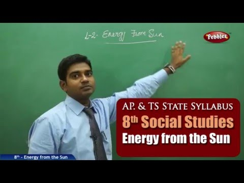 Energy from the Sun | 8th Social Studies | AP & TS State Board Syllabus | Live Video