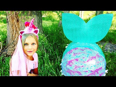 the-biggest-mermaid-surprise-egg-!!!-mermaid-house-for-lol-dolls-!!-video-for-children