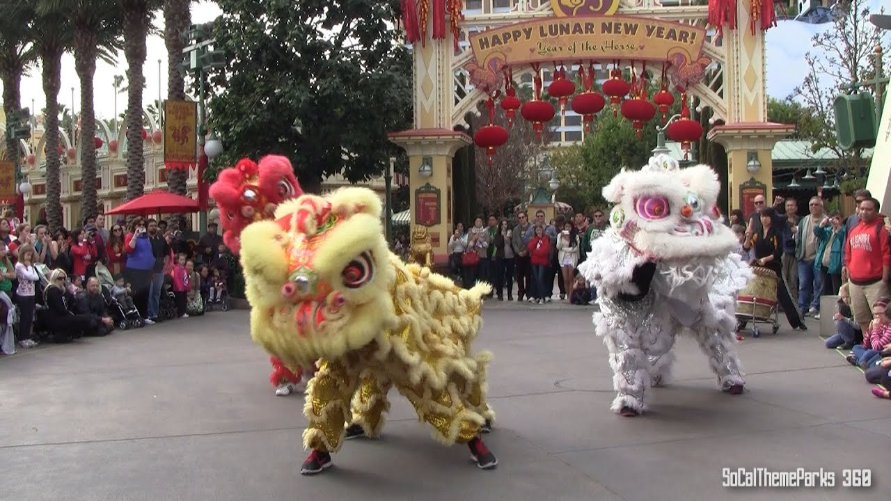 Uncategorized Chinese New Year Dance hd lion dance lunar new year celebration 2014 at disney california adventure youtube