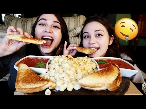 CHEESY Grilled Cheese w/ Mac & Cheese MUKBANG