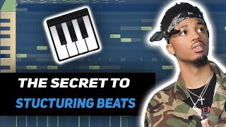 How to structure your trap beats like a GOD!🔥 (fl studio tutorial)
