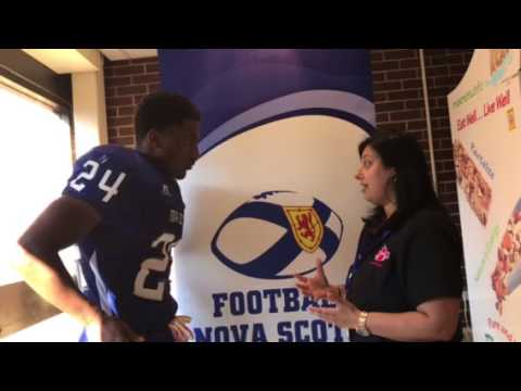 Postgame interview with Nova Scotia RB Adre Simmonds