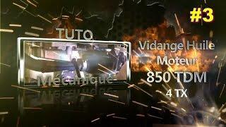 TUTO mécanique #3 [850 TDM] Vidange huile moteur 4TX / Engine oil change