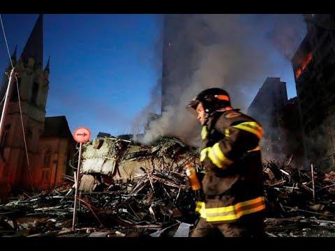 Сгорела дотла: в Лондоне пожар уничтожил жилую высотку