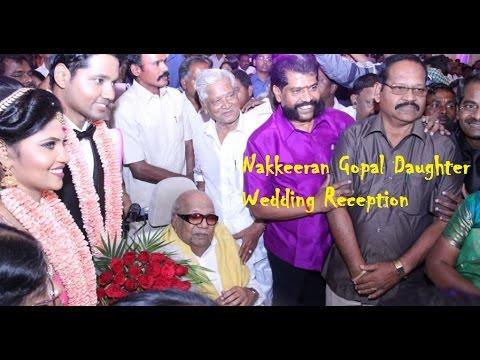 Nakkeeran Gopal Daughter Wedding Reception | Karunanidhi | Vaiko | Suriya by entertamil.com