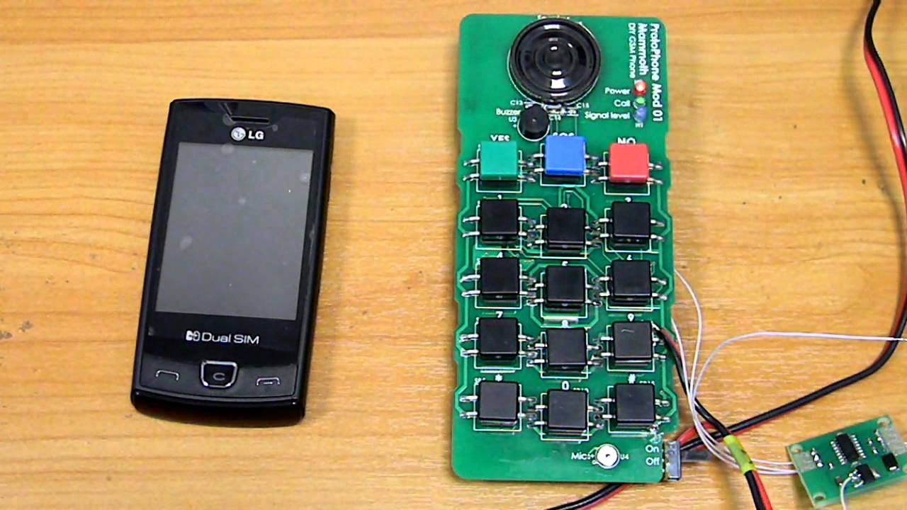 DIY Cell Phone ProtoPhone Mod01 Mammoth - YouTube