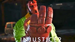 INJUSTICE 2 - ALL Hellboy Intro Dialogues!!! FUNNY Dialogue!