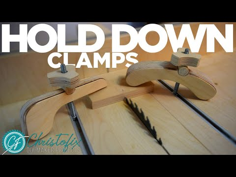 Two different hold down clamps   how to make the best hold down clamps   Building my workshop- Ep.14