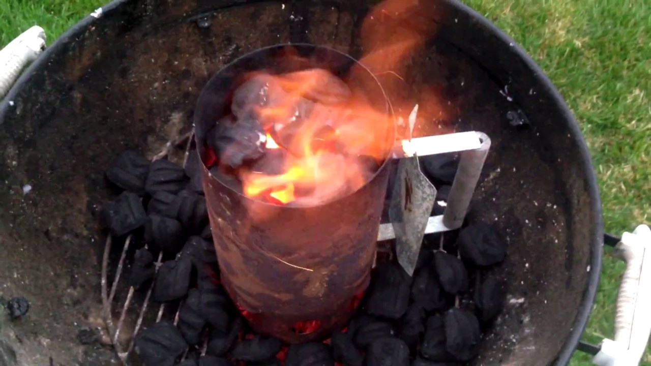 How To Light Charcoal Without Lighter Fluid - Chimney Starter ACTION!! & How To Light Charcoal Without Lighter Fluid - Chimney Starter ... azcodes.com