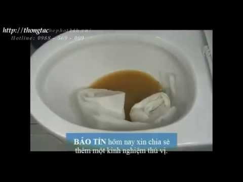 BẢO TÍN   - cách thông tắc nhà vệ sinh, bồn cầu vệ sinh hút bể phốt.