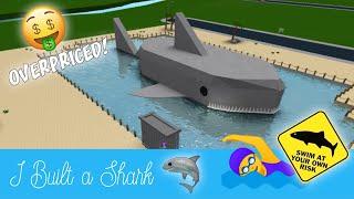 Roblox Bloxburg   I Built A Shark [Speed Build]
