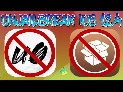Delete iOS 12.4 Jailbreak Right Now/How To UnJailbreak Your iPhone/iPad/Remove Jailbreak No Restore