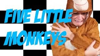 Nursery Rhyme: Five Little Monkeys Jumping On The Bed (funny) (child-made)