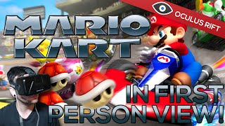 Mario Kart Wii in First Person! - Oculus Rift DK2