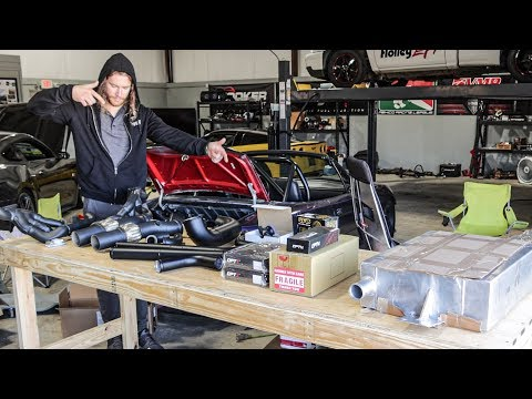 Twin Turbo'ing my GT350 in 3 days pt. 1 | Unboxing the Turbo Kit