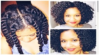 Curly Defined Twistout on Natural Hair ft. Miss Jessie