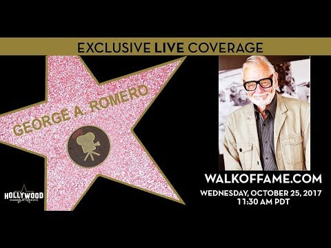 George A. Romero gets his star on the Hollywood Walk Of Fame