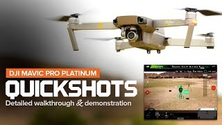 How to use Quickshots on the DJI Mavic Pro and Platinum