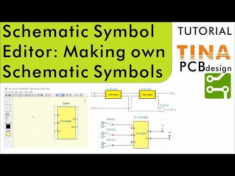 Using The Schematic Symbol Editor In Tina Making Your Own Schematic