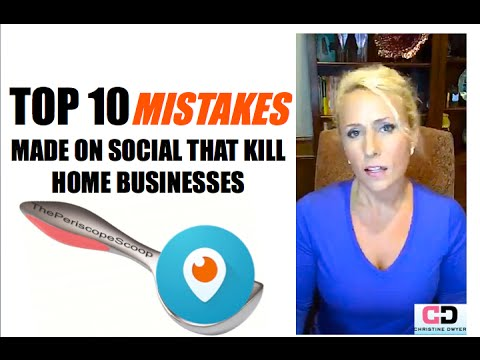 TOP 10 MISTAKES PEOPLE MAKE ON SOCIAL MEDIA THAT KILL THEIR BUSINESS