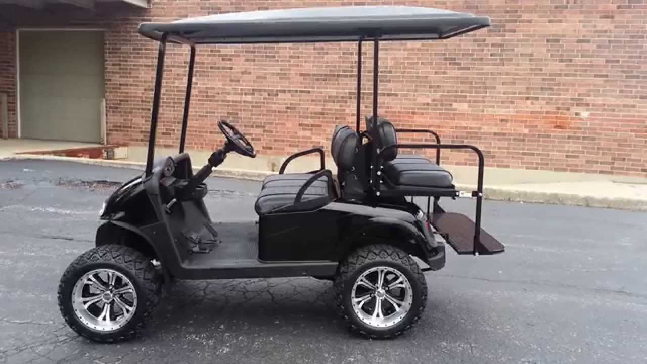 hight resolution of black lifted 13hp gas rxv ezgo golf cart