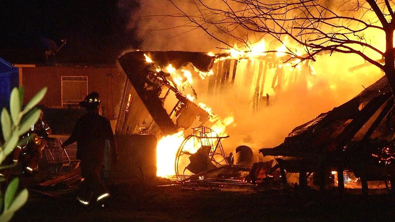 Firefighter injured, two structures destroyed in Chaparral Fire