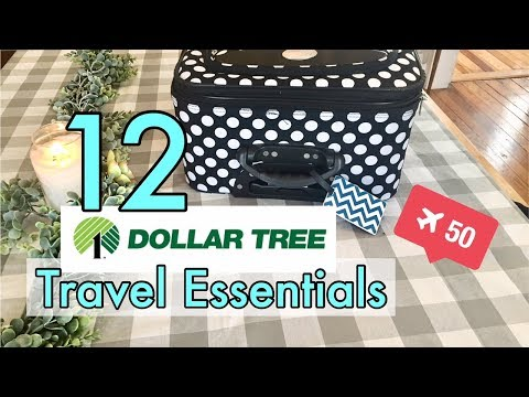12 Dollar Tree Travel Essentials, Packing, and Organization - Cheap Travel Organization Ideas!