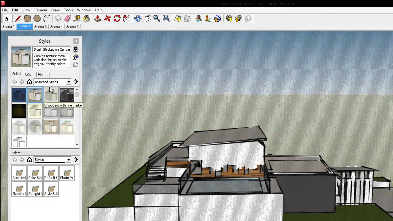How to import floor plans in google sketchup youtube, wright house.