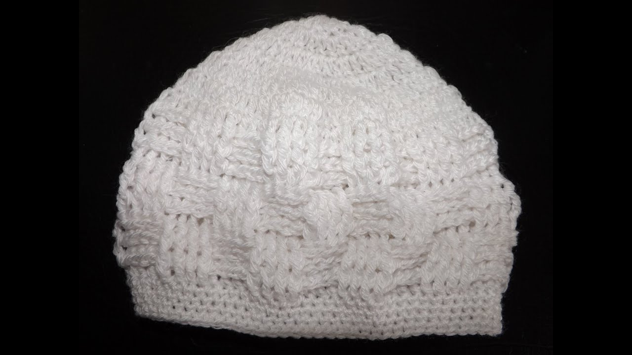 Crochet Baby Hat For a Newborn - YouTube