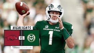 Arkansas vs Colorado State Football Highlights (2018) | Stadium