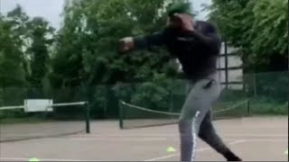 ANTHONY JOSHUA EXECUTES FEROCIOUS SHADOW BOXING IN TRAINING FOR ANDY RUIZ REMATCH ON IG LIVE