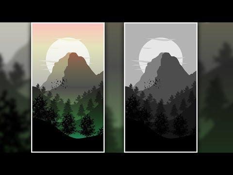 Illustrator Tutorial| Foggy Hills Art in Illustrator CC thumbnail