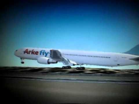 Arkefly B767 land Tncc Curacao