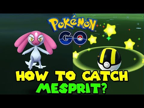 HOW TO CATCH LAKE TRIO IN POKEMON GO - MESPRIT LEGENDARY POKEMON