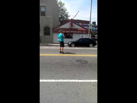 Irish Zebra crossing in Dorchester Boston