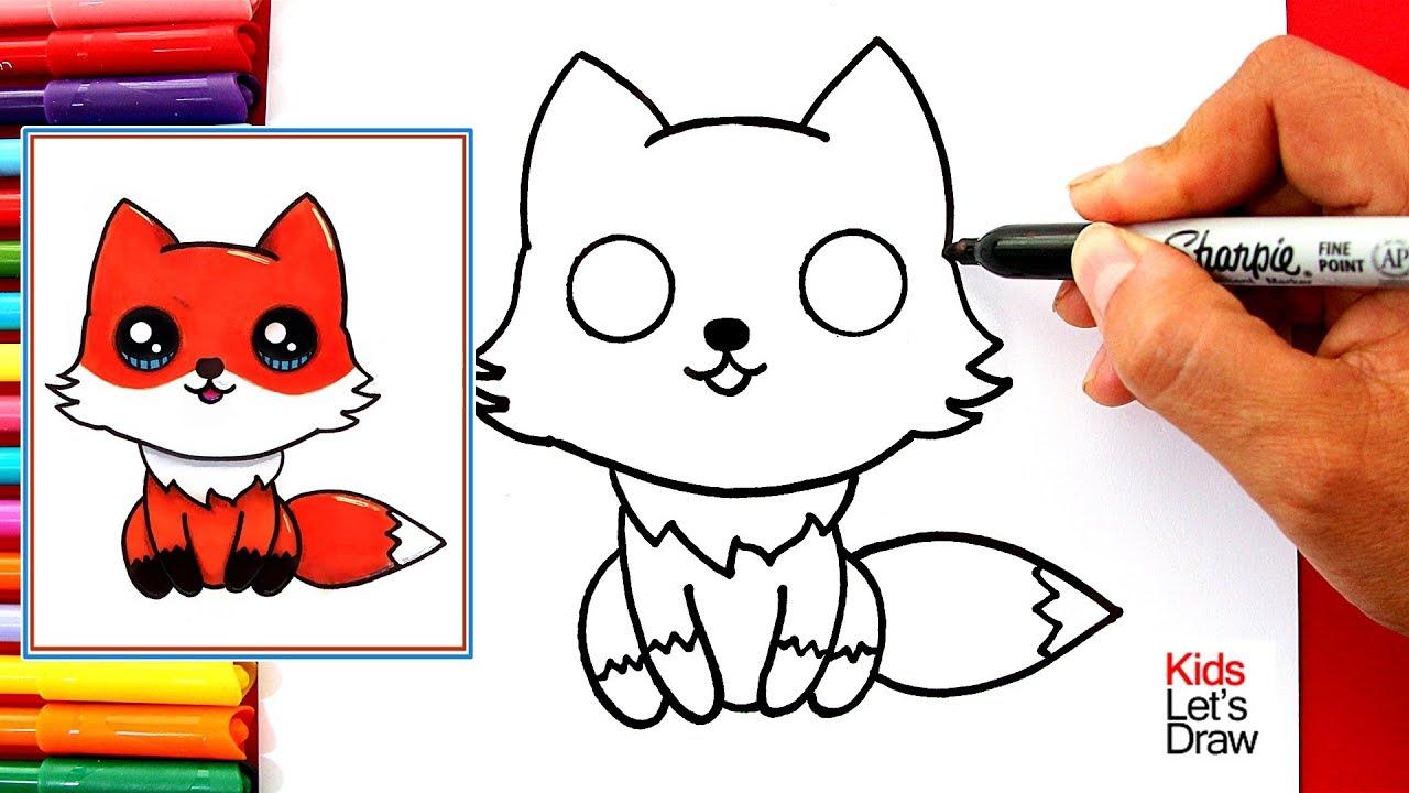 Aprende A Dibujar Un Zorro Kawaii Fácil How To Draw A Cute Fox Easy