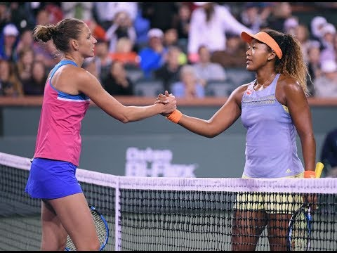 2018 Indian Wells Quarterfinal | Naomi Osaka vs. Karolina Pliskova | WTA Highlights