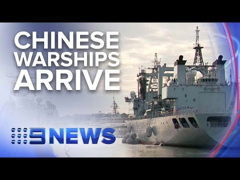Three Chinese Warships Make Surprise Entrance Into Sydney | Nine News Australia