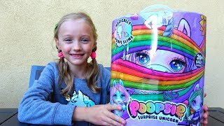 Polina unboxing  Poopsie unicorn slime surprise first time.