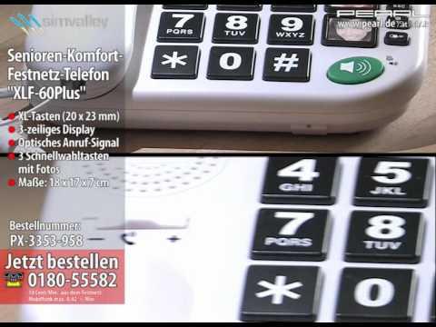 "simvalley Senioren-Komfort-Festnetz-Telefon ""XLF-60Plus"""