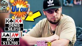 AA vs KK For All the $$$ ♠ Live at the Bike!