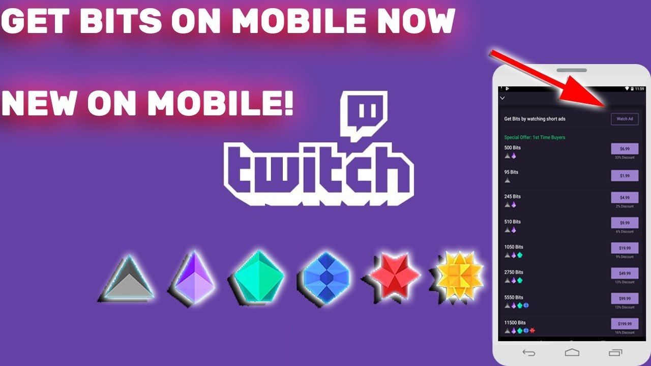 how to get free twitch bits on mobile