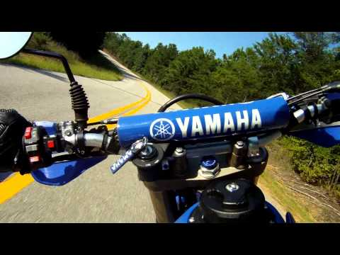 Yamaha WR450F Supermoto Chases Triumph Daytona 675 on Goodwater Road