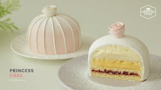 프린세스 케이크 만들기🎀 : Swedish Princess Cake Recipe : プリンセスケーキ | Cooking tree