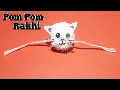How to make Rakhi at home DIY Pom pom Rakhi, Rakhi making for competition 2019